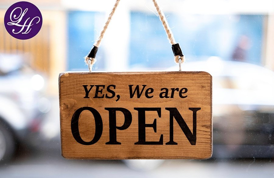 Yes we are open sign